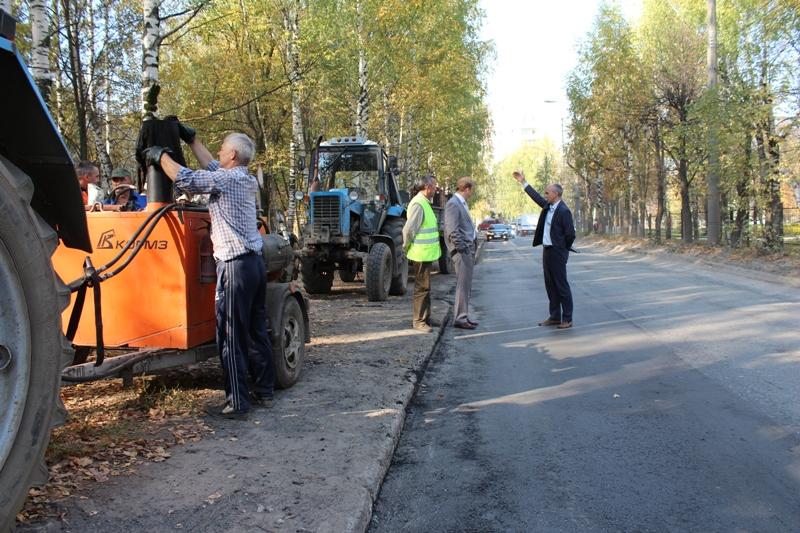 Работы на дорогах Йошкар-Олы