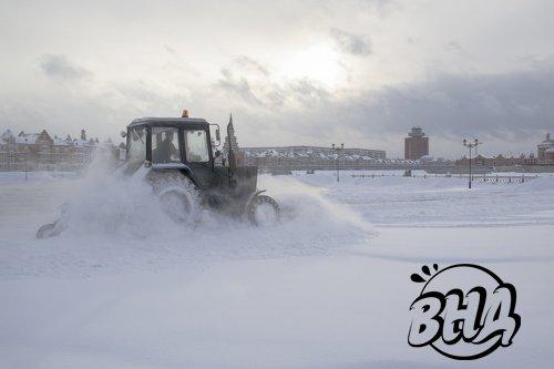 В снегопад коммунальные службы Йошкар-Олы работают в круглосуточном режиме