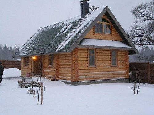 Зима – отличное время для сруба