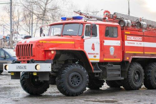 Во время пожара на пилораме в Йошкар-Оле пострадал один из работников предприятия