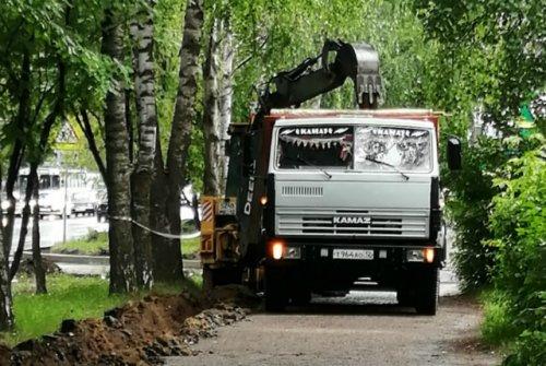 В Йошкар-Оле начали благоустройство пешеходной зоны по улице Красноармейской