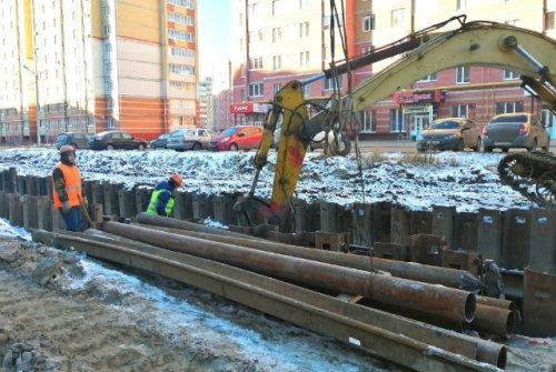 На улице Петрова в Йошкар-Оле начали делать ливневую канализацию
