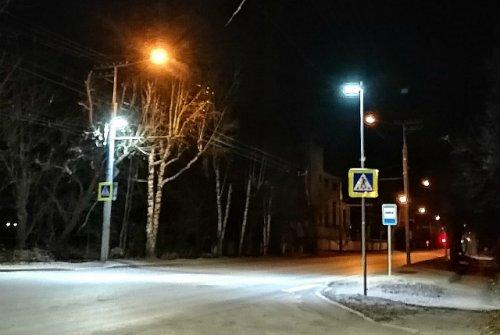 Пешеходные переходы в Йошкар-Оле дополнительно осветили с помощью светодиодов