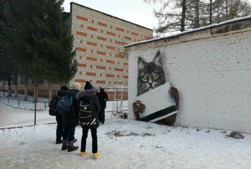 Несмотря на морозную погоду в Йошкар-Оле продолжают рисовать граффити