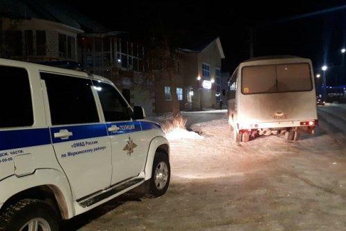 Полицейские в Морках задержали пьяного водителя пассажирского автобуса