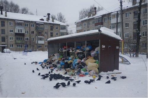 Жители Йошкар-Олы жалуются на качество вывоза мусора после новогодних праздников