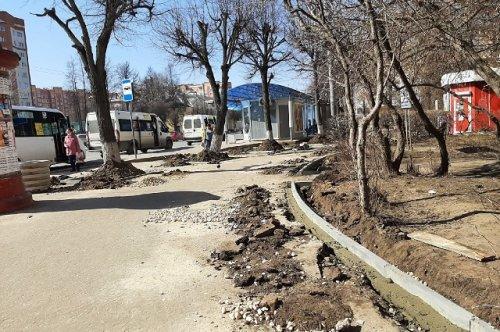 В городе Йошкар-Оле начали работы по благоустройству пешеходных зон