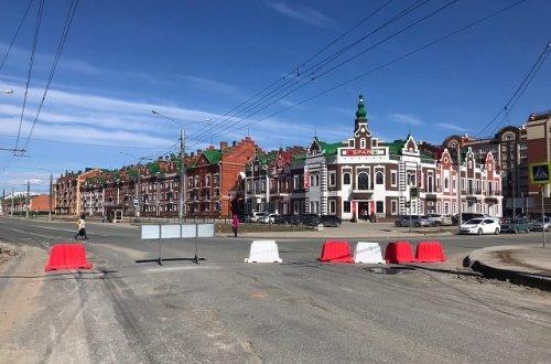 На улице Эшкинина в Йошкар-Оле начались работы по ремонту дорожного полотна
