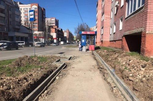 На тротуаре по улице Пролетарской уложат тактильную плитку для людей с проблемами зрения