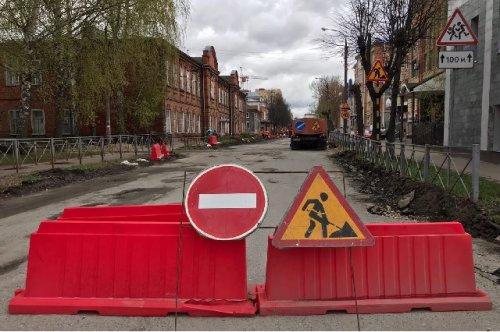 На отдельных участках улицы Советской в Йошкар-Оле ведутся ремонтные работы