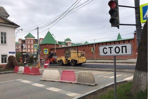 На улице Советской в Йошкар-Оле продолжаются ремонтные работы на проезжей части