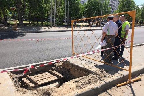 Новую ливневую канализацию на улице Эшкинина соединят со старой «ливнёвкой»