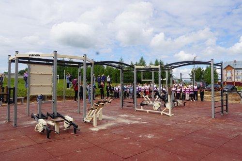 Малая спортивная площадка ГТО открылась в Куженерском районе