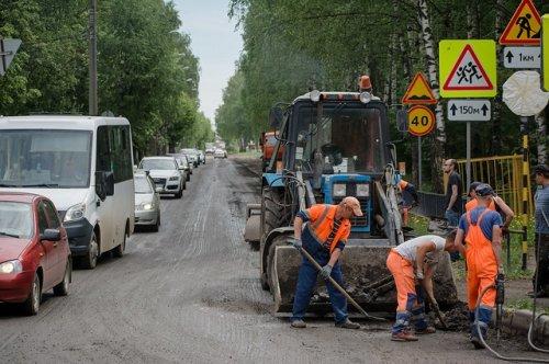 Из-за проведения ремонтных работ ограничено движение по улице Медицинской в Йошкар-Оле