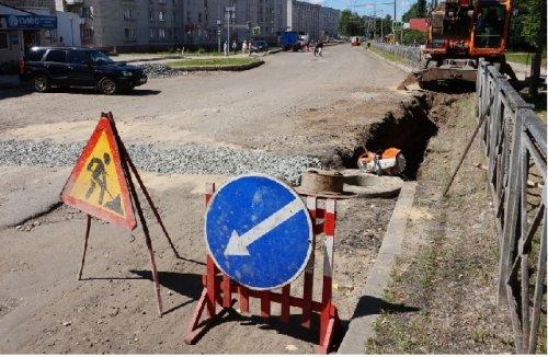 На улице Подольских курсантов в Йошкар-Оле делают систему водоотведения
