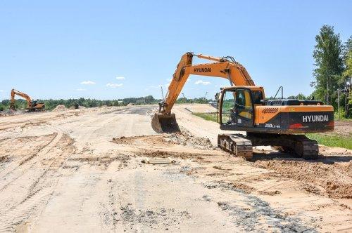 На строительстве объездной дороги в створе улиц Кирова и Строителей завершены земляные работы