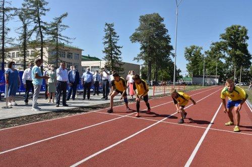 Новый стадион в посёлке Юрино построен в рамках проекта «Спорт – норма жизни»