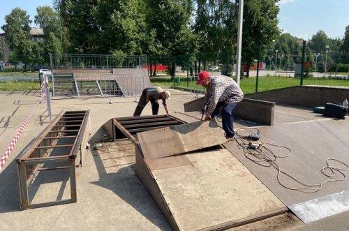 После шести лет работы в скейт-парке Йошкар-Олы проводят капремонт всех модулей