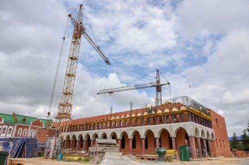 Подрядная организация возводит второй этаж Дома дружбы народов Республики Марий Эл