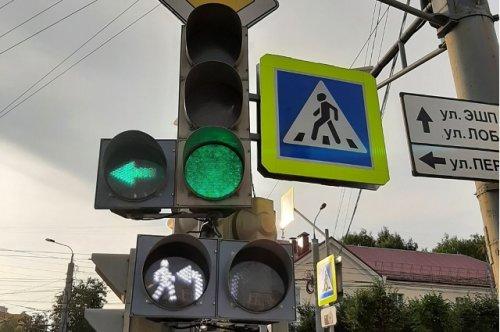 В центре Йошкар-Олы на оживлённом перекрёстке на светофоре появились дополнительные секции