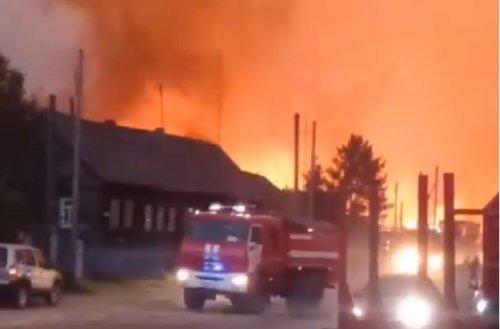Из-за усиления ветра лесной низовой пожар сейчас распространился до деревни Студенка Медведевского района