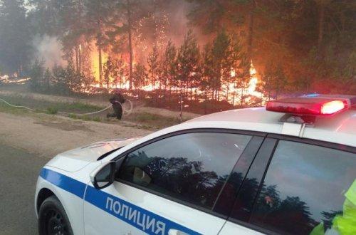 Из-за лесного пожара движение по Кокшайскому тракту ограничено, на трёх дорогах есть задымление