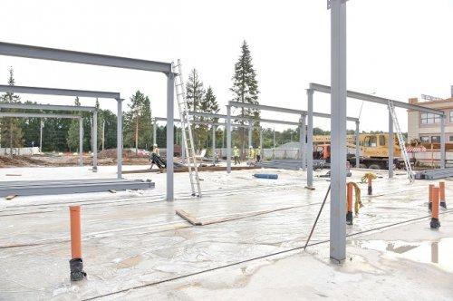 К строящемуся зданию автовокзала в Йошкар-Оле проложены канализационные сети