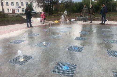 В посёлке Советский построен первый в Республике Марий Эл тротуарный фонтан