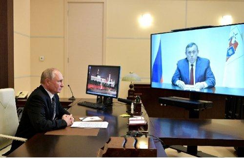 Президент России в режиме видеоконференции провёл встречу с главой Марий Эл